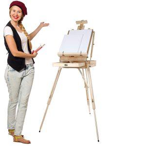 test chevalet peinture mallette Artina